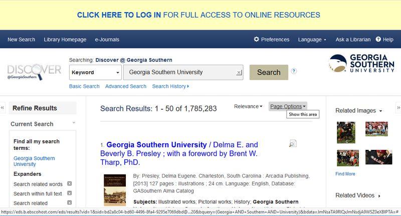 Discover Login Screen
