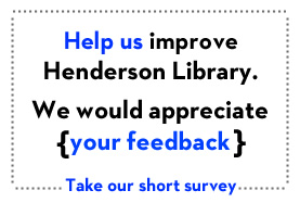 Short Library survey