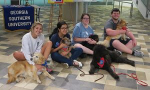 Therapy Dogs in Henderson Library