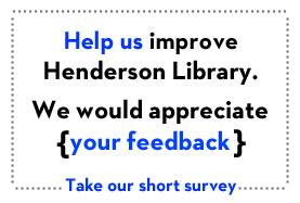 Short Library survey
