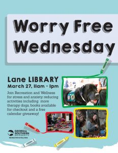 Worry Free Wednesday at Lane Library